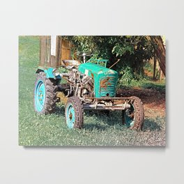 Old traditional Lindner tractor | conceptual photography Metal Print