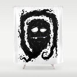Ink Ghostie IV Shower Curtain