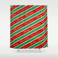 Christmas Wrapping Paper Shower Curtain