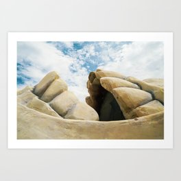 bite of sky, desert landscape Art Print