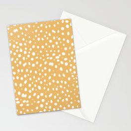 LEOPARD YELLOW Stationery Cards
