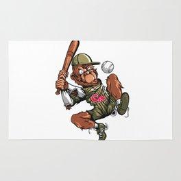 Baseball Monkey - Teak Rug