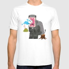 Hippopotamouth White MEDIUM Mens Fitted Tee