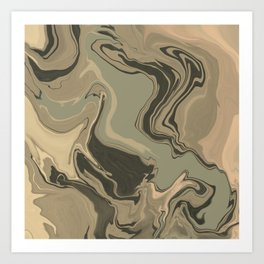 marbled / no.11 Art Print