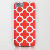 Poppy Quatrefoil Slim Case iPhone 6s