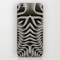 exo iPhone & iPod Skins featuring Exo-skelton 3D Optical Illusion by BohemianBound