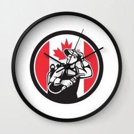 Canadian Welder Canada Flag Icon Wall Clock