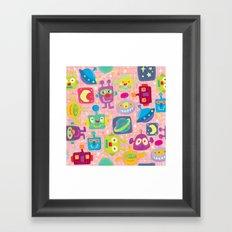 sweet bots Framed Art Print