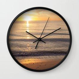 Solitude at Sunset Wall Clock