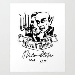 OCCULT DUBLIN series: Bram Stoker Art Print