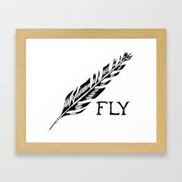 """Fly"" Feather Framed Art Print"