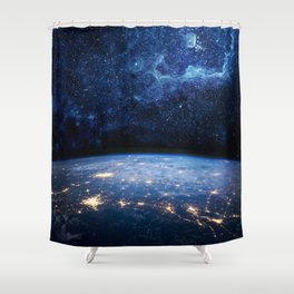 Earth and Galaxy Shower Curtain