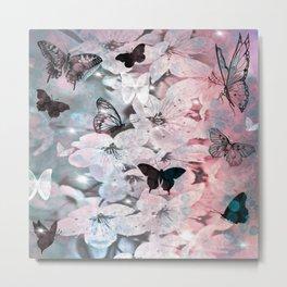 Star gazing butterflies Metal Print