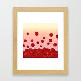 Roses and Star Framed Art Print