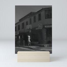 Strolling Gal Mini Art Print