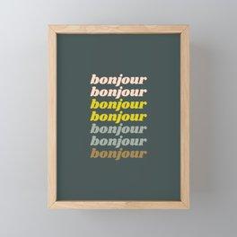 Bonjour in Pretty Pastels Framed Mini Art Print