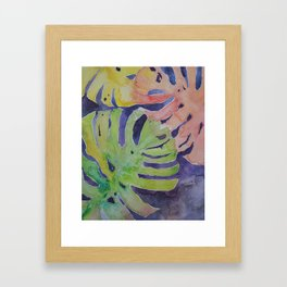 Miami Palms Watercolor Art by Julesofthesea Framed Art Print
