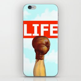 kick life back iPhone Skin