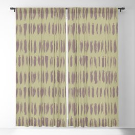 Grape Vine Purple on Earthy Green Parable to 2020 Color of the Year Back to Nature Bold Grunge Dash Blackout Curtain