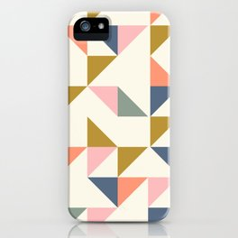 Floating Triangle Geometry iPhone Case