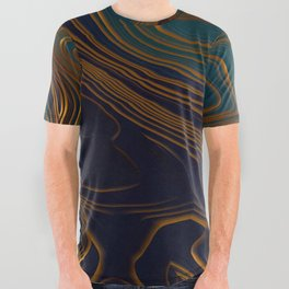 Peacock Ocean All Over Graphic Tee