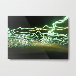 Stop at the Green Light? Metal Print