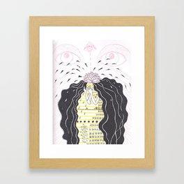 Crown chakra -- thousand-petal lotus Framed Art Print