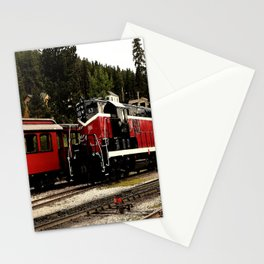 Black Hills Diesel Locmotive # 63 Abstract Stationery Cards