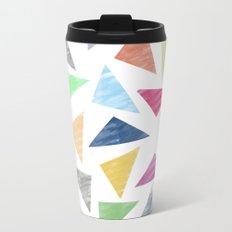 Colorful geometric pattern Metal Travel Mug