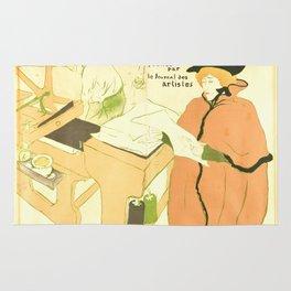 """Henri de Toulouse-Lautrec """"Couverture de l'estampe originale"""" Rug"""