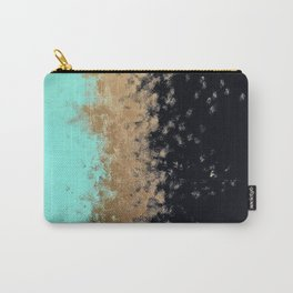 turquoise, gold, and black painting Carry-All Pouch