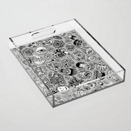 heaps of heads Acrylic Tray