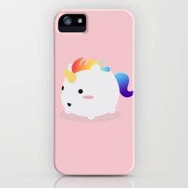 Kawaii rainbow fattycorn iPhone Case