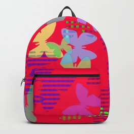 Striped, Plaid and Colorful Butteflies ZFF Backpack