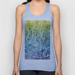 Austin Texas City Map Unisex Tank Top