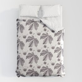 Floral pattern horse-chestnut Comforters