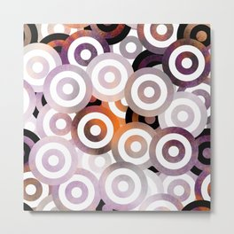Purple Bullseye Metal Print