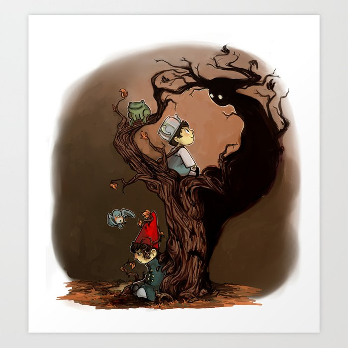 Over The Garden Wall Wirt Greg Beatrice And The Beast Art Print By Merrigel