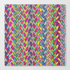 Rainbow Braids Canvas Print