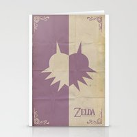 majoras mask Stationery Cards featuring Majoras Mask by cbrucc