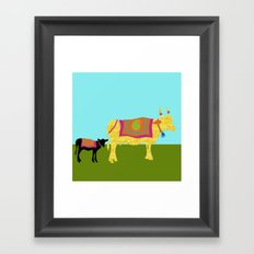 Streets of India- Cows Framed Art Print