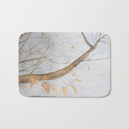 Watercolor under the trees Bath Mat