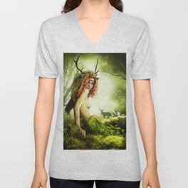 Deer Woman Unisex V-Neck