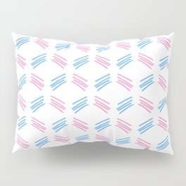 four lines 26 pink and blue Pillow Sham
