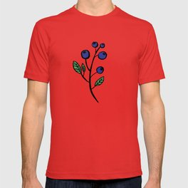 Berry loving deers on a green background T-shirt