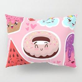 Cute food Pillow Sham