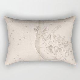 Johann Bayer - Uranometria / Measuring the Heavens (1661) - 44 Lupus / The Wolf Rectangular Pillow