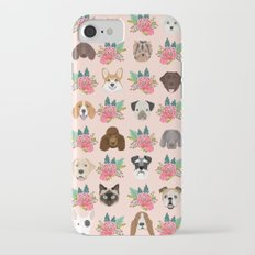 Dogs and cat breeds pet pattern cute faces corgi boston terrier husky airedale iPhone 7 Slim Case