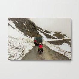 The Traveler - Across the mountains Metal Print