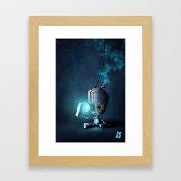 Glow Robot Framed Art Print